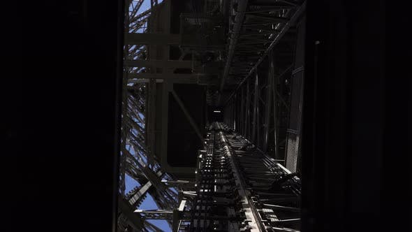 Thumbnail for Moving Elevator Inside of Eiffel Tower