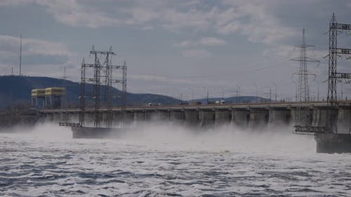 Hydroelectric Power Station on the Volga River