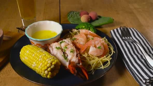 Thumbnail for Grilled Shrimp and Lobster Platter