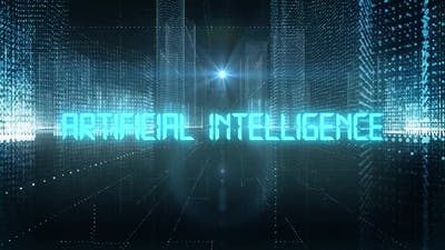Skyscrapers Digital City Tech Word Artificial Intelligence