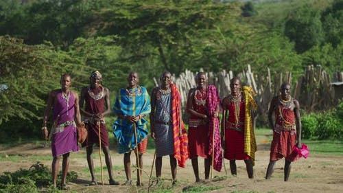 Maasai-Männer in Afrika