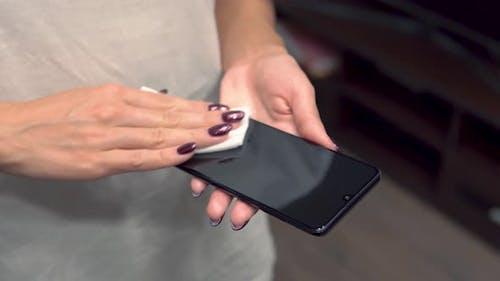 Phone Screen Disinfecting