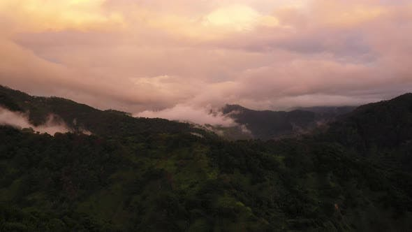 Thumbnail for Hills in Mountain Valley During Sunset. Natural Summer Mountain Landscape