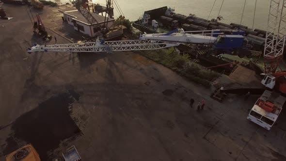 Thumbnail for Aerial Crane Transporting Cargo