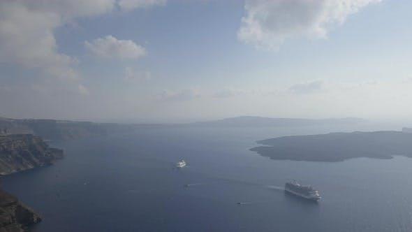 Thumbnail for Time Lapse of Cruise Ships in Santorini Port