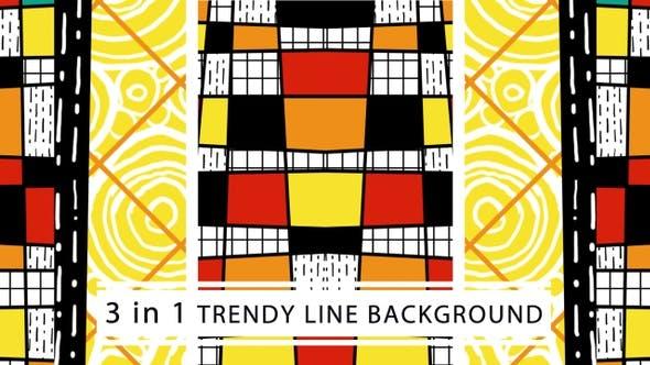 Trendy Line Background