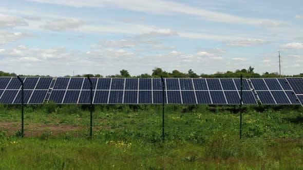 Thumbnail for Massive Solar Power Station in the Field, Alternative Energy,