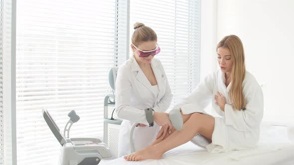Thumbnail for Blonde Woman on Hair Removal Cosmetology Procedure