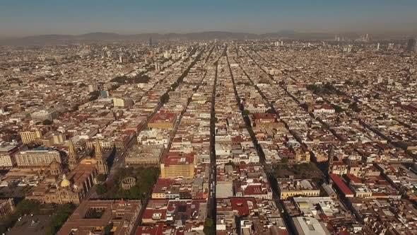 Thumbnail for Guadalajara Cathedral. Museum of Sacred Art. Aerial ,City, View From the Top