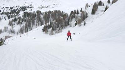 People skiing on a ski slope