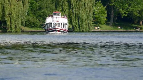 Berlin City - Spree River - Ship and Park