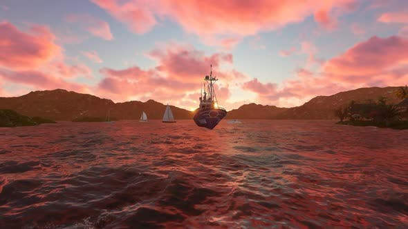 Thumbnail for The oil ship is sailing during the day