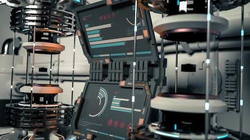 Futuristische generische Laborgeräte und Displays