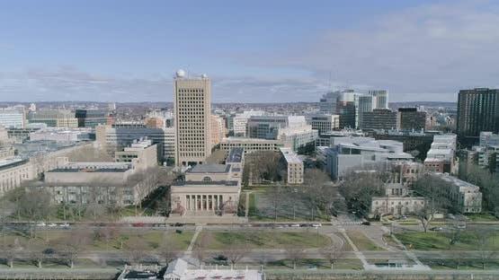 Aerial Panning Shot of Boston