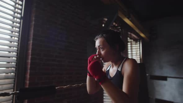 Thumbnail for Athletic Aggressive Sporty Woman Boxing