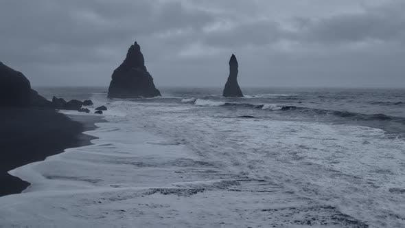 Thumbnail for Basalt Pillar Formation in Reynifjara,Iceland