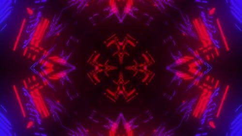 4k Colorful Cybernetic Vj Loop 3