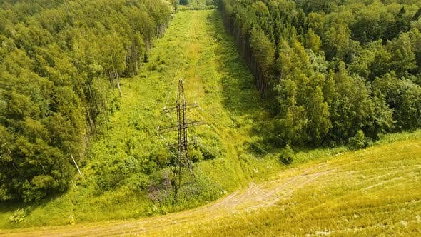 Thumbnail for High Voltage Power Line. Aerial View