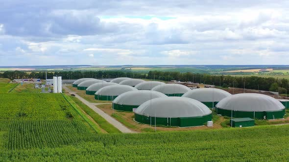 Thumbnail for Exterior of biogas tanks