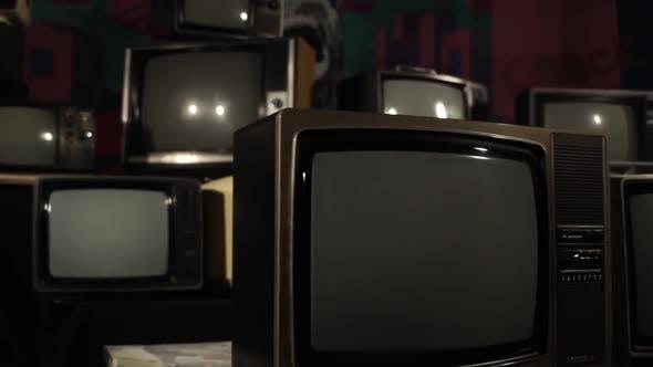 Old Broken TV Sets.