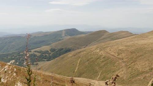 View to Babin zub from  Midzor peak slow tilt 4K 2160p 30fps UltraHD footage - Mountain ranges of St