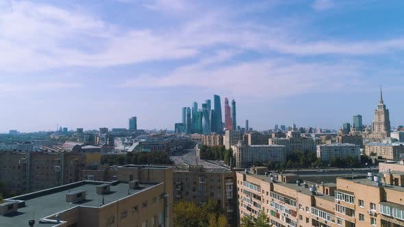 Thumbnail for Downtown Moscow. Aerial Photography From the Drone.