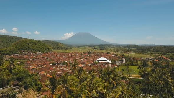 Thumbnail for Mountain Landscape Farmlands and Village Bali, Indonesia.