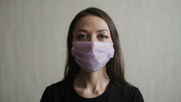 Thumbnail for Woman Wearing A Protective Mask for Coronavirus Protection