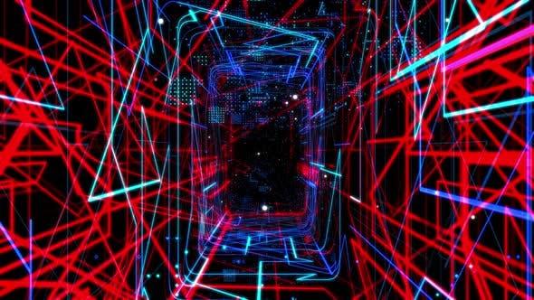 Laser Network Tunnel Light 03 4K