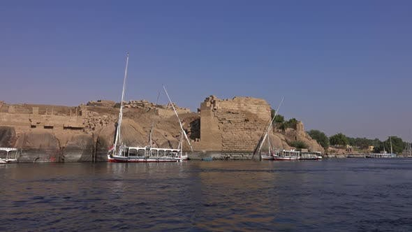 Thumbnail for View From Boat Sailing Along Nile River in Aswan