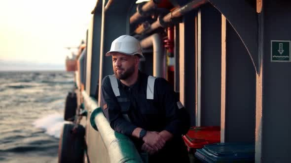 Thumbnail for Marine Deck Officer or Chief Mate on Deck of Offshore Vessel or Ship