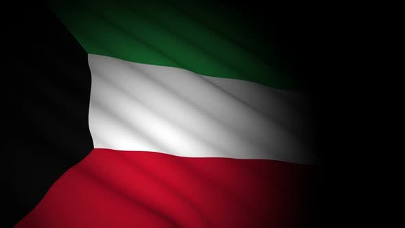 Thumbnail for Kuwait Flag Blowing in Wind