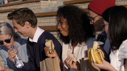 Freundschafts-, Freizeit- und Fast-Food-Konzept