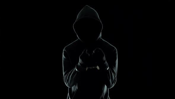 Thumbnail for Silhouette of Handcuffed Male in Hoodie, Dangerous Criminal Punished by Law