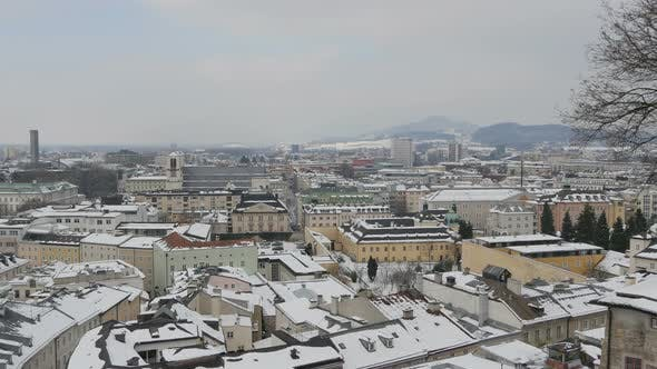 Thumbnail for Winter cityscape of the famous Salzburg