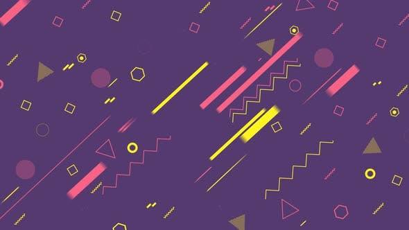 Thumbnail for 4K Purple Geometric Shapes Background