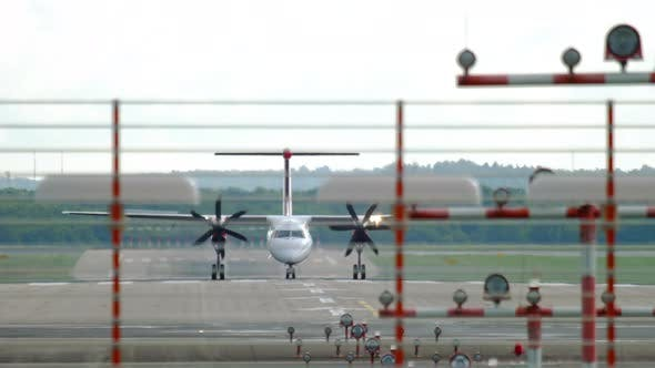Thumbnail for Turboprop Airplane Braking After Landing