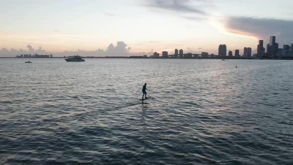 Surfing in Miami