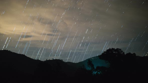 Thumbnail for Star Trail with Clouds