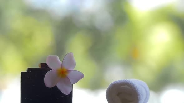 Spa Accessories and Flower Leaves