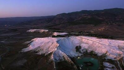 Evening Landscape of Pamukkale Park