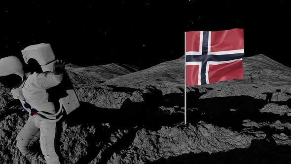 Thumbnail for Astronaut Planting Norway Flag on the Moon