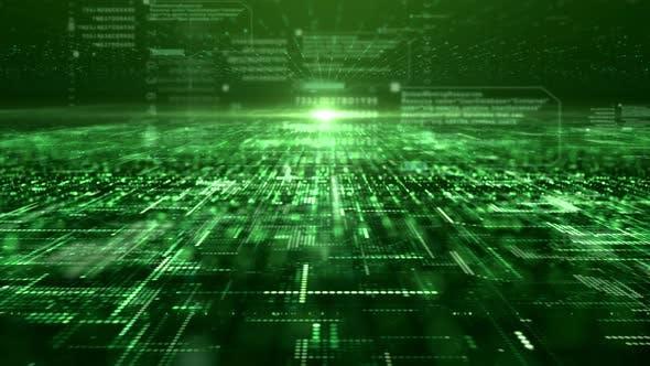 Thumbnail for Futuristic Digital Abstract Matrix Particles Grid