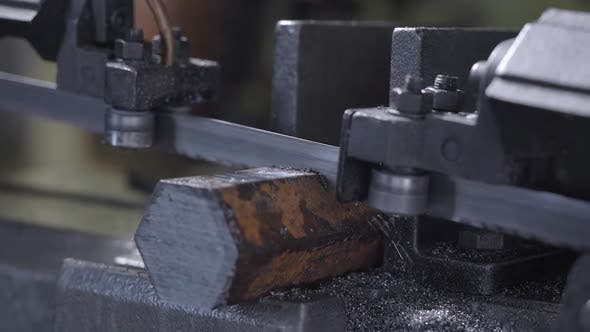 Cover Image for Band Saw Cutting Tool Steel Bar By Automatic Feed