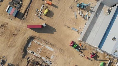 Top View Of New Constructions Development Site