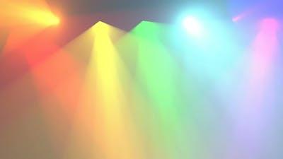 Color Spotlights Rainbow Lights Able to Loop Seamless