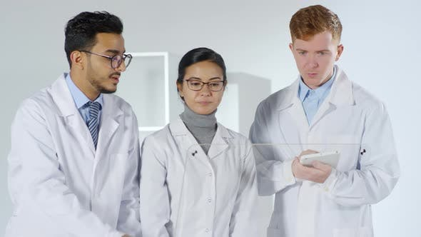 Thumbnail for Three Scientists Using Multi-touch Screen