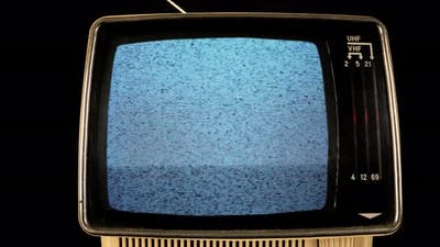 Retro Television with Static on the Screen