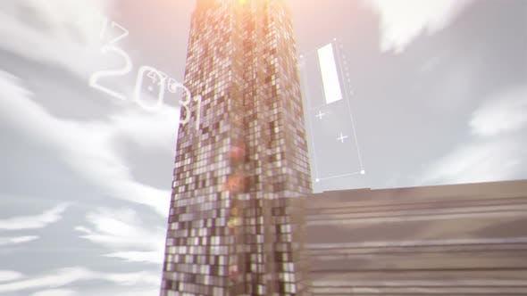 Thumbnail for Futuristic Financial City Scape