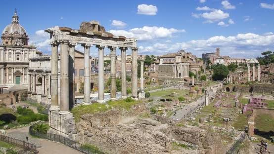 Thumbnail for Roman Forum time lapse, Rome, Italy.